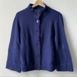 Talbots button front cashmere cardigan sweater S
